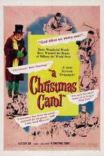 A Christmas carol Alastair Sim cult movie poster print