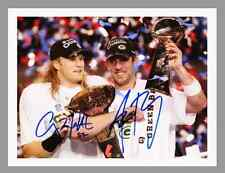 "AARON ROGERS & CLAY MATTHEWS -  8.5"" x 11""  SUPER BOWL COLOR CANVAS - w/SIGS"