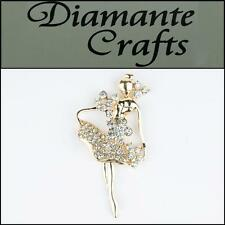 3D Lady Gold Alloy Encrusted in Clear Diamantes  Decoden Kawaii Cabochon 2013GL