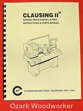 Clausing 11 inch Metal Lathe Instructions & Parts Manual 0134