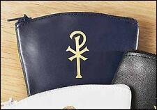 Blue Chi Rho Rosary Case NEW (KT018)