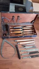 RARE VINTAGE CHISEL SET BUCK BROTHERS WOOD CARVING CHISELS WOOD BOX