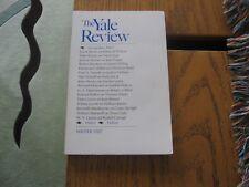1987 Yale Review Encounters, Christina Stead, Crane, Mann, Malcolm X, Wm. James