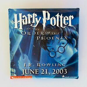 Harry Potter Pin Badge Order Of The Phoenix Movie Retro Rare Vintage (M1)