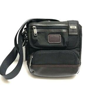 Tumi Alpha Kerby Crossbody Shoulder Bag Brown W/ Brown Leather Trim ~ NWT