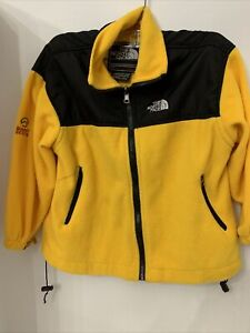 The North Face Summit Series Fleece Jacket Yellow Boys Size M