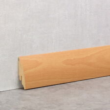 Sockelleiste 58 mm clippfähig Länge 2,6 Meter Dekor Buche Hell