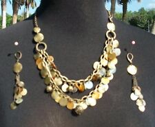 Cache Earring + Necklace New Dangle Event Mixed Metals Lot 2 Match Tops NWT $65
