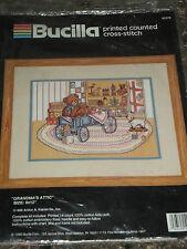 Bucilla Grandmas Attic Counted Cross Stitch Picture Kit 9x12