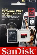 SANDISK EXTREME PRO 64GB MICRO SD CARD U3 MEMORY CLASS10 SDXC GO PRO 95MB/SEC