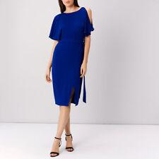 Coast Elina Cold Shoulder Dress Colbalt Blue Size UK 10 Lf079 KK 05
