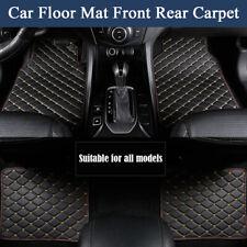 4Pcs PU Leather Car Floor Mat Front Rear Carpet Protect Pad Waterproof Dustproof