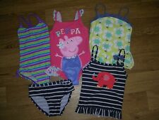 NEXT PEPPA PIG ZOGGS etc Girls Bundle Swimming Costume UV Swim Suit Age 2-3 98cm