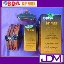 RDA GP MAX Front & Rear Pads NISSAN 180SX RS13 1.8 litre, inc. turbo 1988-1991