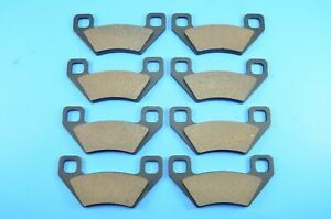 Front Rear Carbon Brake Pads for Arctic Cat Wildcat 4x 1000 2012 2013 2014