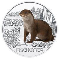 3 Euros Commémorative Autriche 2019 Colourful Creatures Fischotter / Loutre