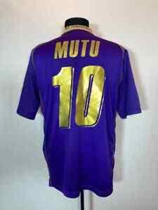 ACF FIORENTINA 2008/2009 HOME FOOTBALL SHIRT SOCCER JERSEY CALCIO LOTTO #10 MUTU