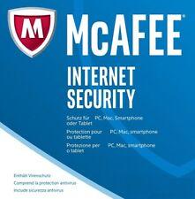 McAfee Internet Security 5 Geräte / 1 Jahr  Gültig für 2018 (DEUTSCH) / KEY