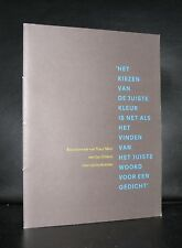 Sikkens prijs, Rutger Fuchs Typography# JAN DIBBETS # 1995, nm++