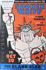 Shonen Knife Halloween Shogun Warrior Gig Poster 2009 San Jose Blank Club 27/60