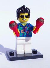 CUSTOM 100% LEGO TROPICAL BLUE HAWAII ACAPULCO ELVIS PRESLEY w MARACAS & stand