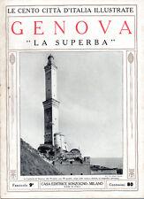 GENOVA, LA SUPERBA – LE CENTO CITTÀ D'ITALIA ILLUSTRATE – STORIA MONUMENTI