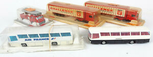 MAJORETTE TRUCKS X 2 BUSES X 2 + FIRE ENGINE BOXED/UNBOXED VERY GOOD COND(VM)