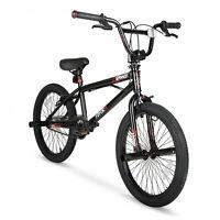 "Hyper 20"" Black BMX Bike 48-spoke alloy rims weight 220 lbs ht 42"" -50"" NEW"