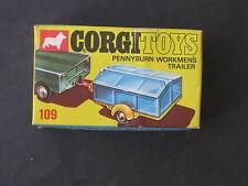 VINTAGE CORGI PENNYBURN WORKMAN'S TRAILER # 109  MINT CONDITION ORIGINAL BOX