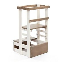 Montessori Learning Tower Toddler Step Stool - Adjustable Height & Safety Rails✅