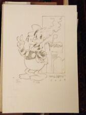 Donald Soffritti disegno originale Paperino