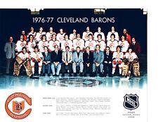 1976 1977 CLEVELAND BARONS  8X10 TEAM PHOTO HOCKEY NHL