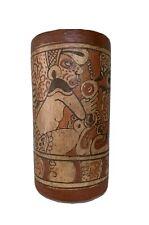 """Pre Columbian Mayan Vase, 9.5"""""""
