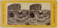 Pompei Panificio Furno Italia Foto Stereo L5n30 Vintage Albumina c1870
