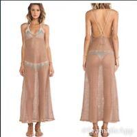 Blue Life Womens Sahara Desert Netted Maxi Dress Brown Medium/Large New