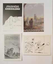 4 carte postale  BD Angoulême Bretecher Bernard Hislaire Fred Gimenez