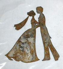 6 Man Woman Bride Groom Shape Rusty Metal Vintage Craft Sign Stencil Wedding