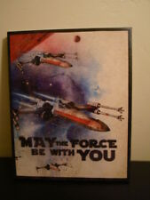 """Star Wars Canvas Art Picture Poster May The Force Be With You X-Wing 20"""" x 16"""""""