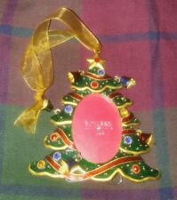 NEW Bombay Jeweled and bells Christmas tree Ornament Picture photo Frame Stand