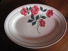 Ancien Plat ovale en faïence HBC Modèle MARYSE - Old Dish Plate Earthenware Oval