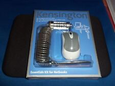 KENSINGTON NOTEBOOKS ESSENTIALS KIT MOUSE PAD AND LOCK COMPUTER LAPTOP SECURE