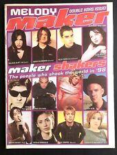 MELODY MAKER 19 December 1998 Noel Gallagher, Pulp, Ash, Beastie Boys, Embrace
