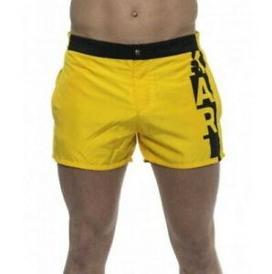 "Karl Lagerfeld KL19MBS02 Boardshort Swimwear Yellow Size Small 32"" W"