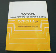 Toyota Corolla FF AE80 AE82 CE80 Chassis Body Repair Manual Workshop Service DIY