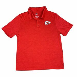 Kansas City Chiefs Polo Shirt Mens Large Red Majestic NFL Football Adult
