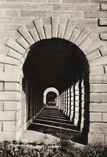 1925 Vintage CANADA ~ Fort Lennox Quebec Archway Architecture Military Photo Art