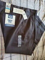 NWT Dockers Men's Relaxed Fit Comfort Khaki Pleated Pants D4 Black 36WX30L