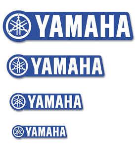 """D'COR 6"""" 12"""" 24"""" 48"""" Yamaha YZ Blue Car Trailer Truck Window Sticker 2 FT 4 FT"""