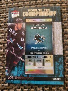 2014-15 Fleer Ultra Road to the Championship Joe Thornton San Jose Sharks