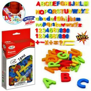 Kids Learning Teaching Magnetic Toy Letters & Numbers Fridge Magnets Alphabet DM